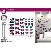 <p>Stickers papillons multicolores