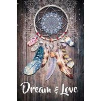 Toile Boho - Attrape rêve Dream & love - 60x40 cm