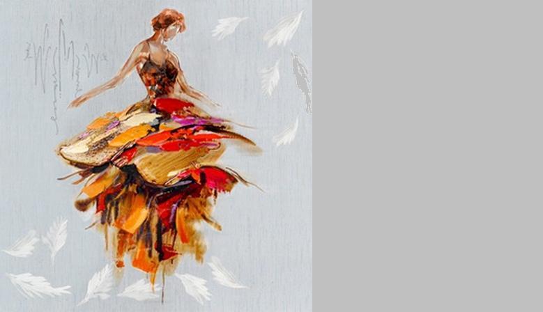 Toile CADRAVEN danseuse
