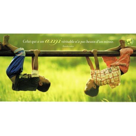 Carte citation Proverbe Indien - L'amitié - Photo Rarindra Prakarsa - 11x21 cm