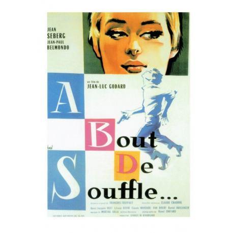 Carte A bout de soufle 1960 - Jean Luc Godard - 10.5x15 cm