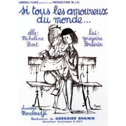 Carte Grégoire Brainin - Si tous les amoureux du monde - 10.5x15 cm