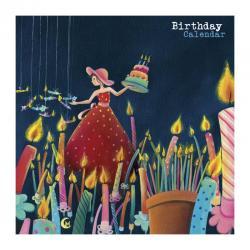 """Calendrier d'anniversaire Marie Cardouat """"Le gâteau d'anniversaire"""" 22x22 cm"""