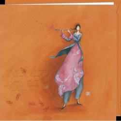 """Carte Gaëlle Boissonnard """"La musique"""" 16x16 cm"""