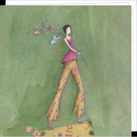 """Carte Gaëlle Boissonnard """"Baby boom"""" 16x16 cm"""