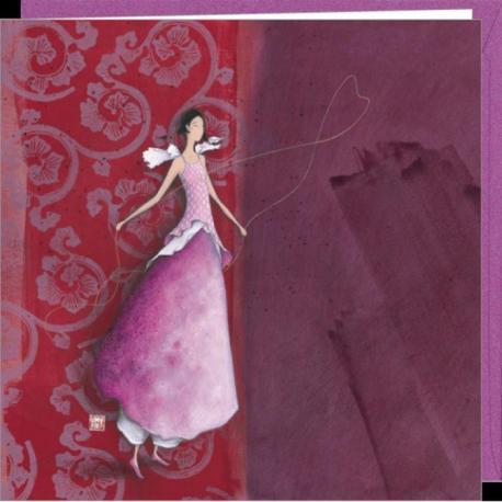"""Carte Gaëlle Boissonnard """"Les rubans"""" 16x16 cm"""