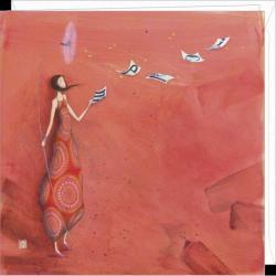 Carte Gaëlle Boissonnard - Merci - 16x16 cm