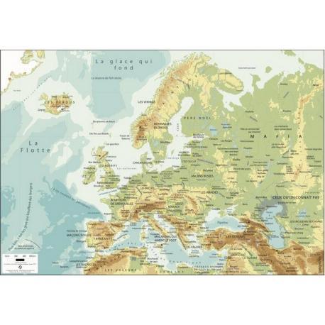 L'Europe vue d'en bas par Sébastien Laurent - Affiche 50x70 cm