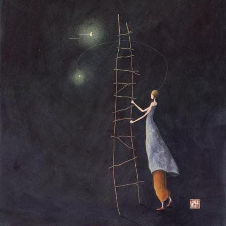 """Agenda 2015 Gaëlle Boissonnard """"Décrocher la lune"""" 16x16 cm"""