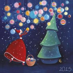 """Calendrier 2015 Marie Cardouat """"Les boules lumineuses"""" 16x16 cm"""