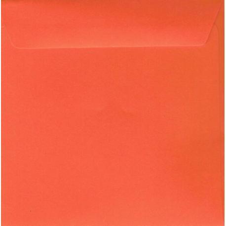 Enveloppe rouge vermillon 14.5 x 14.5 cm