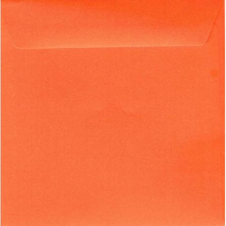 Enveloppe orange 14.5 x 14.5 cm