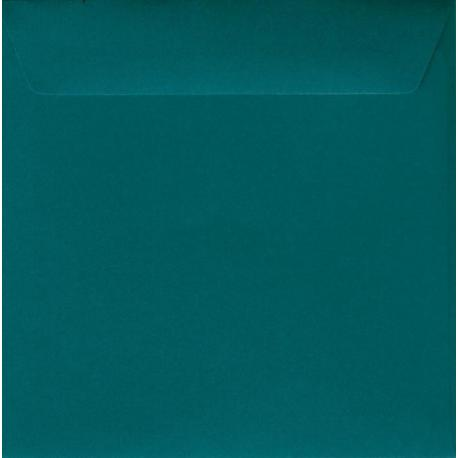 Enveloppe bleu riviera 14.5 x 14.5 cm
