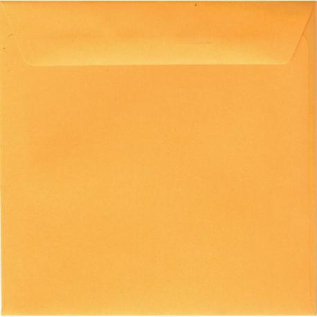 Enveloppe jaune d'or 14.5 x 14.5 cm