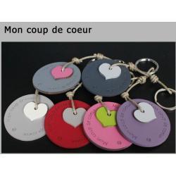 """Porte clés anneau Sophie Janière """"Mon coup de coeur"""""""