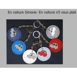 """Porte clés anneau Sophie Janière """"En voiture simone"""""""