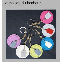 """Porte clés anneau Sophie Janière """"La maison du bonheur"""""""