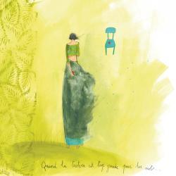 """Carte Anne-Sophie Rutsaert """"Quand la tristesse est...!"""" 14x14 cm"""
