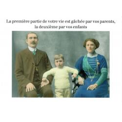 Carte humour de Cath Tate - La vie gâchée... - 10.5x15 cm