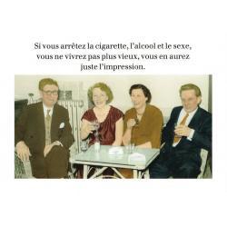 Carte humour de Cath Tate - Si vous arrêtez la cigarette... - 10.5x15 cm