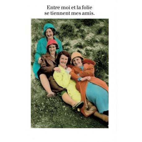Carte Cath Tate - Entre moi et la folie... - 10.5x15 cm