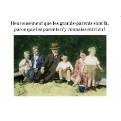 Carte humour de Cath Tate - Les grands parents - 10.5x15 cm