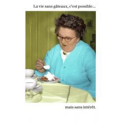 Carte humour de Cath Tate - La vie sans gâteau... - 10.5x15 cm
