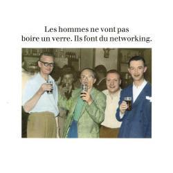 Carte humour de Cath Tate - Les hommes ne vont pas boire un verre... - 10.5x15 cm