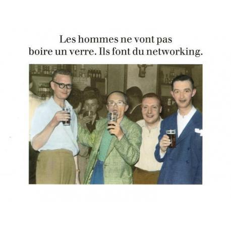 Carte Cath Tate - Les hommes ne vont pas boire un verre... - 10.5x15 cm