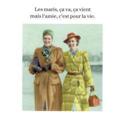 Carte humour de Cath Tate - Les maris ça va, ça vient... - 10.5x15 cm