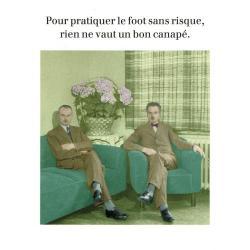 Carte humour de Cath Tate - Le foot sans risque... - 10.5x15 cm