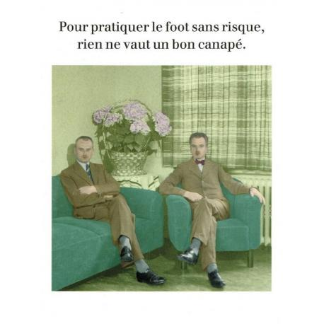 Carte Cath Tate - Le foot sans risque... - 10.5x15 cm