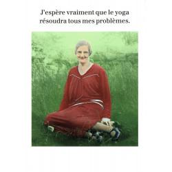 Carte humour de Cath Tate - Le Yoga... - 10.5x15 cm