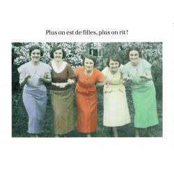 Carte humour de Cath Tate - Plus on est de filles... - 10.5x15 cm