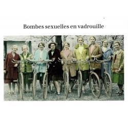 Carte humour de Cath Tate - Bombes sexuelles en vadrouilles. - 10.5x15 cm