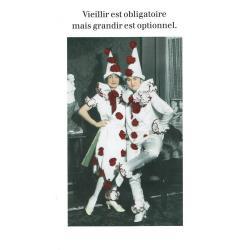 Carte humour de Cath Tate - Vieillir est obligatoire - 10.5x15 cm