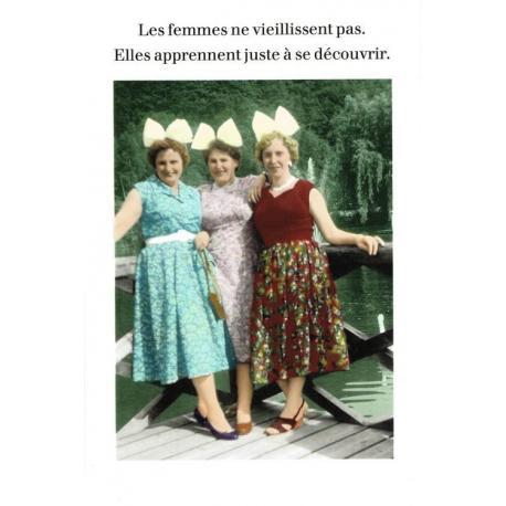 Carte Cath Tate - Les femmes ne vieillissent pas... - 10.5x15 cm
