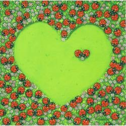 Carte Christine Donnier : Titi Pinson - Amour...un seul coeur - 13.5x13.5 cm