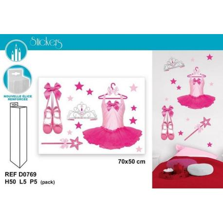 Stickers accessoires ballerines - Format 50x70 cm