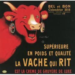 """Calendrier Clouet 2016 """"La vache qui rit"""" Format 30x30 cm"""