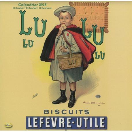 "Calendrier Clouet 2016 ""Biscuits Lu "" Format 30x30 cm"