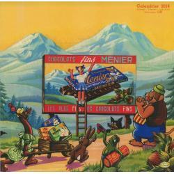 "Calendrier collector Clouet 2016 ""Chocolat Meunier"" Format 30x30 cm"
