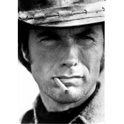 Carte Clint Eastwood - Portrait - 10.5x15 cm