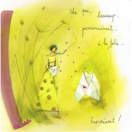 """Carte Anne-Sophie Rutsaert """"Un peu, beaucoup..."""" 14x14 cm"""
