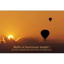 """Carte de Voeux citation """"Belle et heureuse année! Je vous souhaite......"""" - 12x17 cm"""