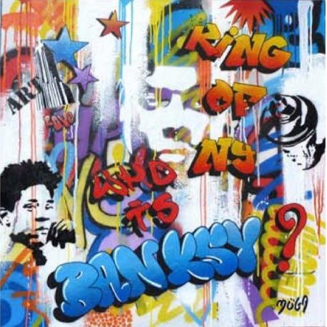 Affiche Street Art - Moga : Ring of NY - 70x70 cm