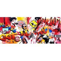 Affiche Street Art - Moga : Get Luchy - 50x100 cm