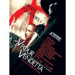 V pour Vendetta de James McTeigue 2006 - 40x53 cm Pliée - Affiche officielle du film