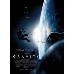 Affiche Gravity - Alfonso Cuarón avec Clooney Bullock 2013 - 40x53 cm