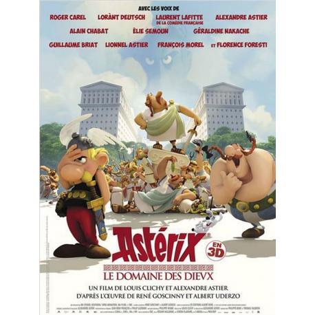 """Asterix """"Le domaine des Dieux"""" de Louis Clichy, Alexandre Astier 2014 - 40x53 cm - Affiche officielle du film"""